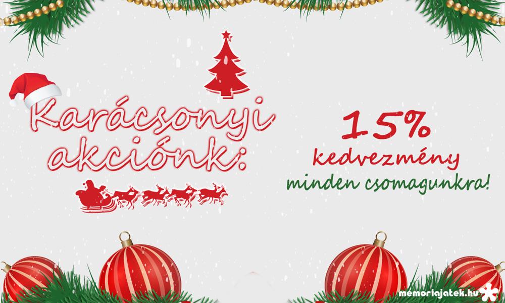 Karácsonyi akciónk 15% kedvezmény