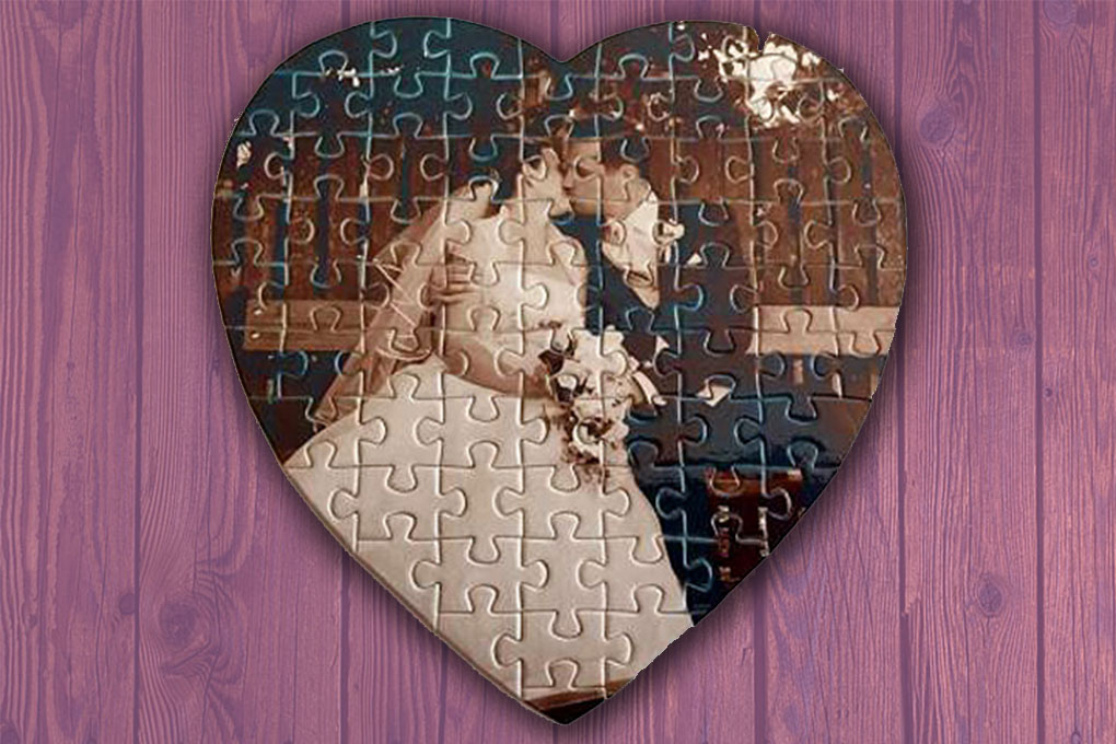75 db-os szív alakú puzzle