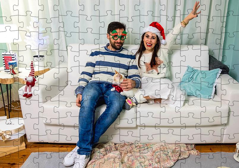 120 darabos karton puzzle saját fotóval